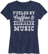 Instant Message Women's Women's Tee Shirts NAVY - Navy 'Fueled By Coffee & Country Music' Relaxed-Fit Tee - Women