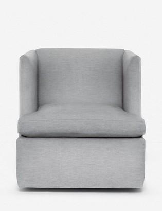 Lulu & Georgia Hayden Swivel Chair, Light Gray