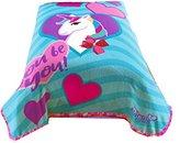 Nickelodeon JoJo Siwa Bowlicious Plush Coral Fleece Blanket (Official JoJo Siwa Product)