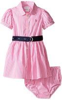 Ralph Lauren Woven Drop Waist Dress (Infant)