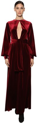 Luisa Beccaria Interchangeable Knotted Velvet Dress