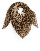 Alexander McQueen 'Leopard Skull' Chiffon Scarf