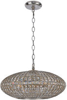 Crystorama Solstice 6-Light Chandelier, Chrome