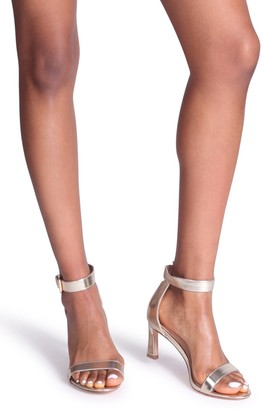 Barely There Linzi Kira Gold Metallic Small Heeled Sandals