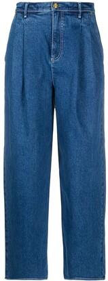 Tory Burch Pleated Waist Jeans