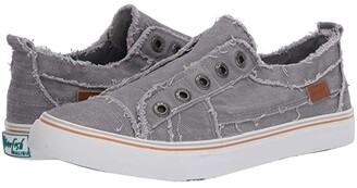 Blowfish Play (Steel Grey Color Washed Cozunel Linen) Women's Lace up casual Shoes