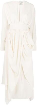 A.W.A.K.E. Mode Drape-Detail Dress