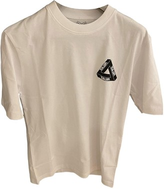 Palace White Cotton Tops