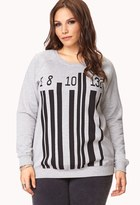 Forever 21 Standout Barcode Sweatshirt