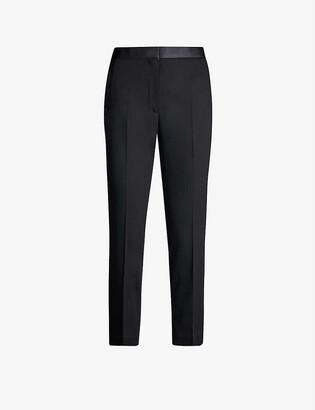 Sandro Satin-trim stretch-woven trousers