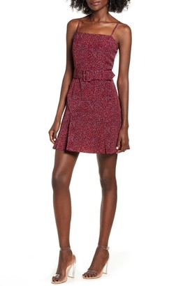 J.o.a. Woven Dotted Mini Dress