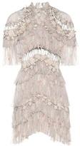 Zimmermann Stranded Tier silk mini dress