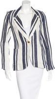 Smythe Striped Linen Blazer