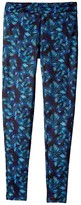 Flo Active Active Leggings (Little Kids/Big Kids) (Palm Print) Girl's Casual Pants