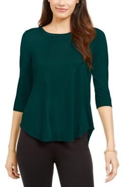 Alfani 3/4-Sleeve Top, Created for Macy's