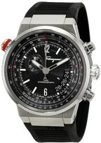 Salvatore Ferragamo Men's FQ2030013 F-80 Stainless Steel Watch with Black Rubber Band