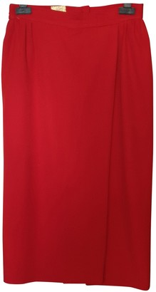 Vivienne Westwood Red Wool Skirt for Women