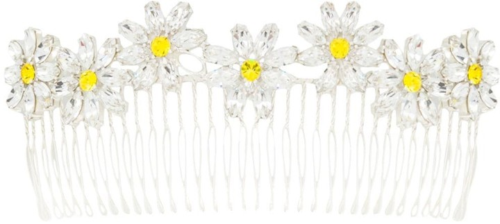 Maison Michel Pinta crystal-embellished hair comb