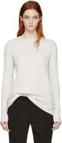 Haider Ackermann Off-White Ribbed Crewneck Sweater