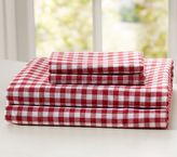 Pottery Barn Kids Buffalo Check Flannel Sheet Set