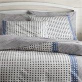 Crate & Barrel Torben Blue Duvet Covers and Pillow Shams