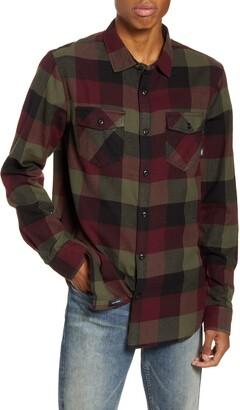 Vans Box Buffalo Check Button-Up Flannel Shirt