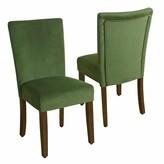 HomePop Velvet Parson Dining Chair 2-piece Set