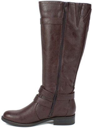 White Mountain Loyal Tall Faux Leather Riding Boot - Wide Calf