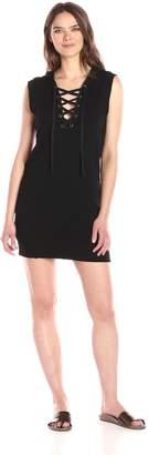 Pam & Gela Women's Hooded Lace Up Dress
