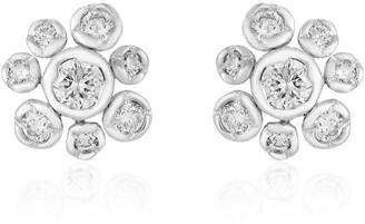 Annoushka 18kt white gold small Marguerite diamond stud earrings