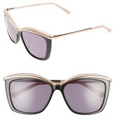 Ted Baker Women's 55Mm Cat Eye Sunglasses - Black