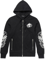 Alexander Mcqueen - Embroidered Loopback Cotton-jersey Hoodie