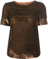 Vanessa Seward sequin embellished T-shirt - women - Silk/Sequin - 36