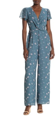 Sugar Lips Savvy Floral Twist Jumpsuit