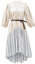 Binetti Love Only Yesterday Waterfall-hem Striped Cotton Dress - Womens - Blue Stripe