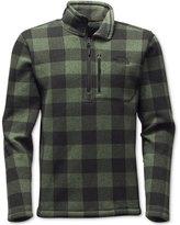 The North Face Men's Lyons Quarter-Zip Plaid Fleece Jacket