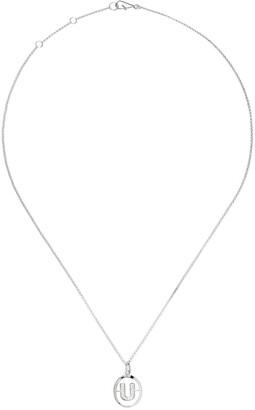 Annoushka 18kt white gold diamond initial U necklace