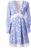Miu Miu Floral Printed Lace V-neck Dress
