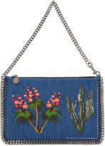 Stella McCartney Blue Denim Falabella Pouch