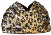 Gucci leopard print turban - women - Silk/Cotton/Acrylic/Metallic Fibre - S