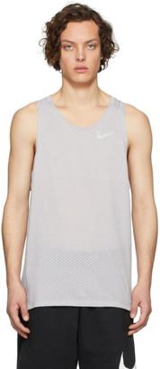 Nike Grey Rise 365 Tank Top