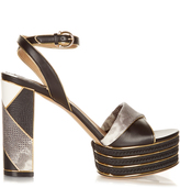 Salvatore Ferragamo Gaga patchwork platform sandals