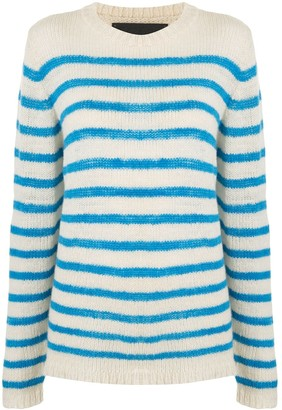 The Elder Statesman Picasso Striped cashmere jumper