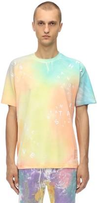 Tie Dye Printed Cotton Jersey T-Shirt