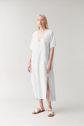 Cos Cotton-Mulberry Silk Kaftan Dress