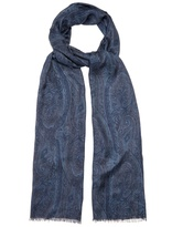 Etro Paisley-print modal and cashmere-blend scarf
