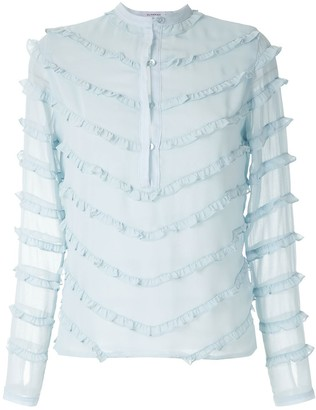 Olympiah Damasco ruffled blouse