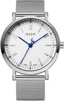 Julius JA-867 Male Men's Silver Easy Reader Quartz Analog Mesh Stainless Steel Waterproof Fashion Watch