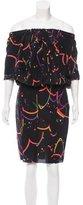 Prada Abstract Print Silk Dress w/ Tags