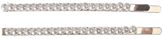 Gregory Ladner Pearl Slide Clip 2Pk Hair Accessory